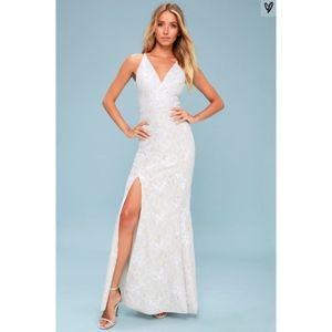 Dress The Population 'Iris' Lace Dress Gown XS